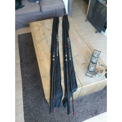 2 Silstar Traverse-X GT 3584-360 Carp oldschool superstaat.